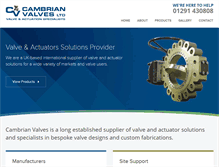 Tablet Preview of cambrianvalves.co.uk